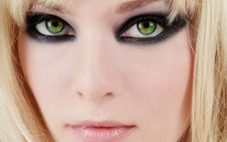 Очарование зеленых глаз с макияжем смоки айс