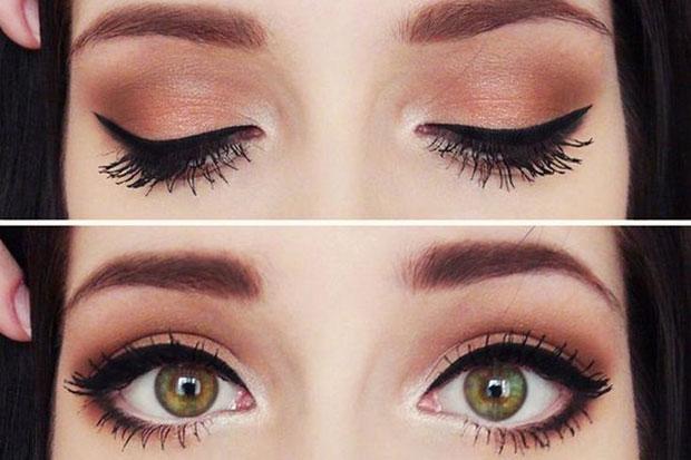 мейкап для зелено-карих глаз