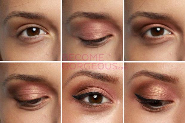 нежный макияж для каре-зеленых глаз