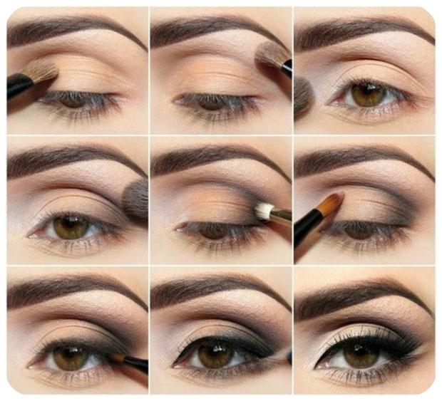 пошаговый макияж каре-зеленых глаз