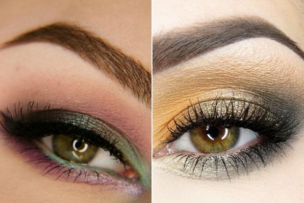 роскошный макияж каре-зеленых глаз