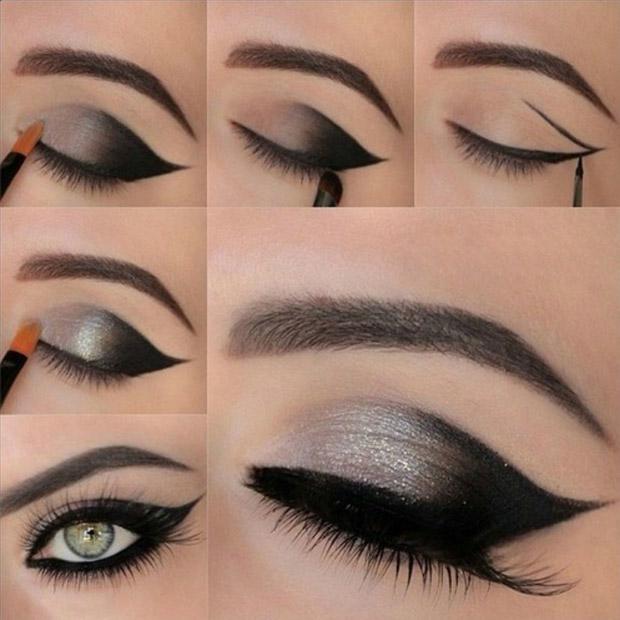урок вечернего макияжа со стрелками