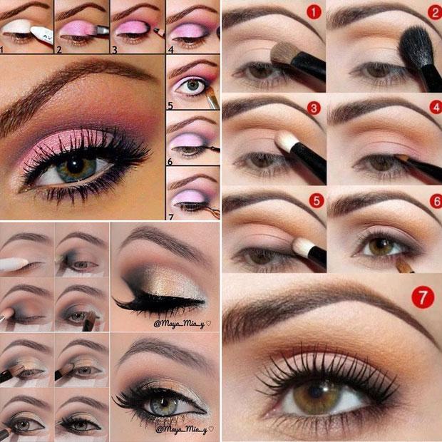 уроки макияжа для зелено-карих глаз