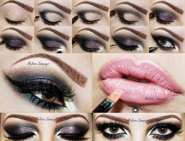 пошаговая инструкция макияжа для карих глаз