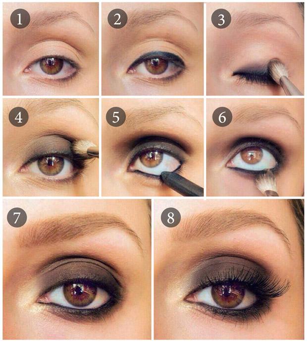 smoky eyes для карих глаз