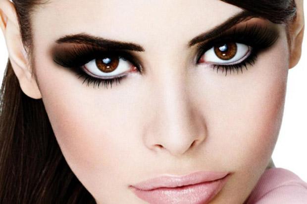 вечерний макияж для темно-коричневых глаз