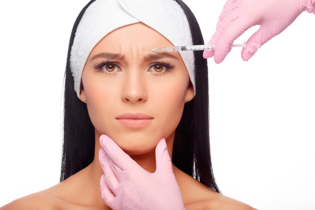инъекция ботокса в лоб